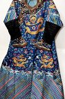 19C Chinese Silk Embroidery Dragon Robe