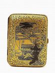 Meiji Japanese Mix Metal Komai Style Cigarette Case Sg