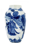 17C Chinese Kangxi Blue & White Vase Figurine Figure